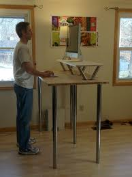 desk stand up desk ikea intended for top my new standing desk