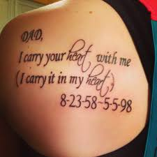 Family Tribute Tattoo Ideas I Carry Your Heart