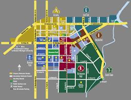Kalamazoo Michigan Map by Kalamazoo Downtown Kalamazoo