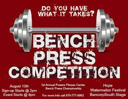 bench press competition results powers fitness center home facebook