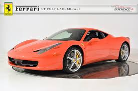 orange ferrari used 2012 ferrari 458 italia for sale fort lauderdale fl