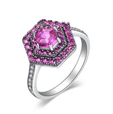 pink gemstones rings images Sterling silver sapphire ring pink desire camia fashion jpg