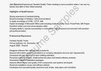 Qtp Resume Sample Resume For Qa Testergreat Free Job Resumes Great Free Job