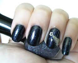 shooting star nail art with micro caviar beads a sparkly life for me