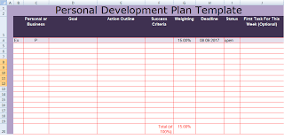 get personal development plan template excel spreadsheettemple