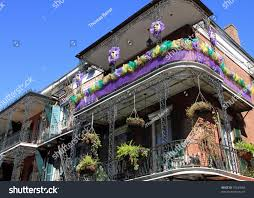 typical french quarter wrought iron balconies stock photo 70249066