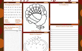 thanksgiving placemat thanksgiving placemats featured easy event ideas