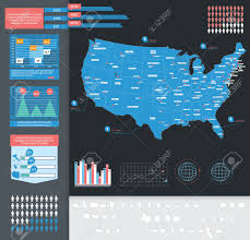 State Map Of Usa by Infographic Vector Illustration With Map Of Usa Royalty Free