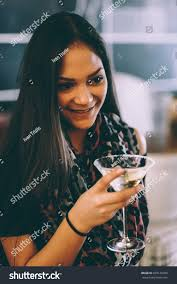man holding martini attractive young holding glass drinking stock photo 679148329