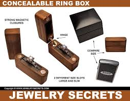 slim engagement ring box concealable engagement ring box jewelry secrets