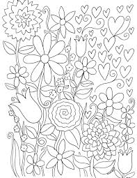 free coloring pages for adults trees u0026 flowers