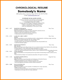 Chronological Order Resume Example 6 Chronological Order Examples Experince Letter
