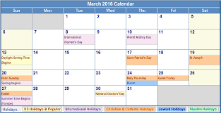 march 2016 calendar with holidays1 by devblogger1 on deviantart