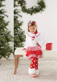 santa claus costume for toddlers mud pie baby girls u0027s christmas white toddler or infant