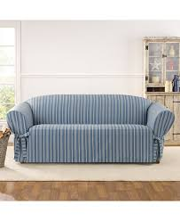 Macy S Sofa Covers by Sure Fit Grainsack Stripe Sofa Slipcover Macys Com Sofa