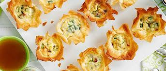 puff pastry canape ideas mini pancetta filo pies recipe olive magazine