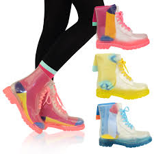 womens boots ebay australia flat clear festival jelly wellies low ankle boots