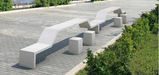 public bench contemporary granite marble twin by massimo
