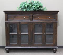 Media Cabinet Glass Doors Wood Sideboard Or Media Cabinet With 2 Drawers 4