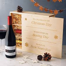 personalised christmas wine and champagne by intervino