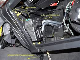 2001 jeep grand heater replacement heater replacement shortcuts lhd
