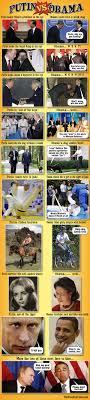 Obama Putin Meme - putin vs obama pictorial comparisons