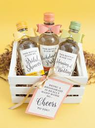 wine bottle favors diy mini wine bottle bridesmaid gifts bridalpulse