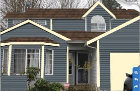 pacific blue paint with burnt sienna roof deciding house roof