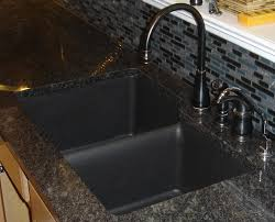 Composite Kitchen Sinks Bridgeport Dual Mount Composite Granite - Black granite kitchen sinks