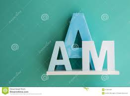 letters a and m on a white shelf stock photo image 57354400