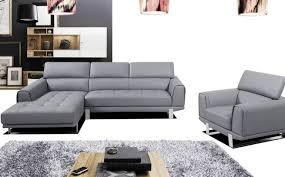 canapé gris cuir photos canapé en cuir gris
