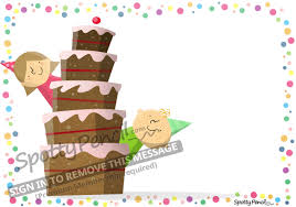 the birthday cake printable party invitation spottypencil com