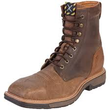 twisted x s boots shop s twisted x distressed shoulder steel toe lite work lacer