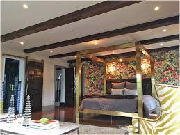 Log Cabin Interior Bedroom Bedroom Artificial Wood Beams Stirring Log Cabin House Interior