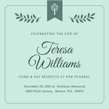 Funeral Invitation Sample Invitation Maker Design Your Own Custom Invitation Cards
