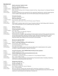 Production Operator Job Description Resume by Ericgtrz Local Updated Nov11