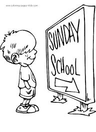 boy sunday color bible story color