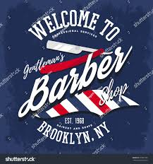 advertising barber shop insignia sign razors stock vector