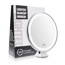 amazon com terresa 7x magnifying lighted makeup mirror with