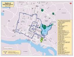 Oakland California Map Kaiser Permanente Half Marathon Oakland Marathon