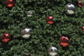 red artificial christmas trees christmas lights decoration