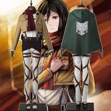 aliexpress com buy jacket attack on titan mikasa ackerman