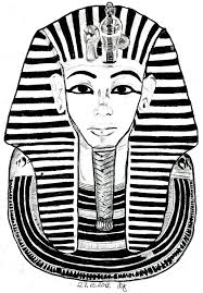 free coloring page coloring egypt mask toutankhamon the famous