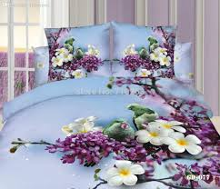 3d Print Bed Sheets Online India Wholesale Flowers Birds 3d 100 Pure Cotton Bedroom Twill Printed