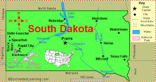 map south dakota south dakota facts map and state symbols enchantedlearning