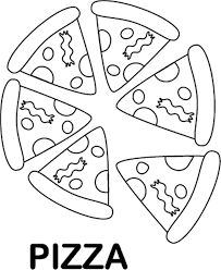 tasty pizza coloring pages of food foods coloring pages of