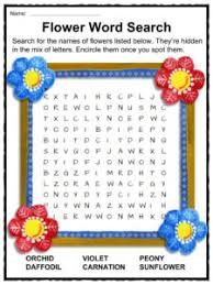 flower facts worksheets types u0026 history for kids