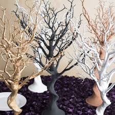 tree branch centerpieces in silver manzanita tree centerpiece