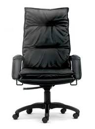 Second Hand Leather Armchair Posh High Back Executive Leather Chair W Nylon Secondhand Hk