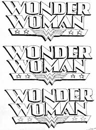 wonder woman logo outline sketch coloring page